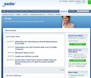 """Sedo Press Service"""