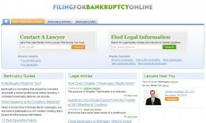 Filing for bankruptcy online