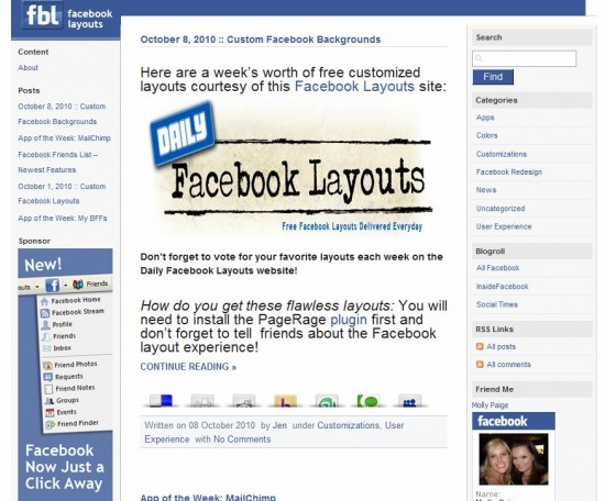 Facebook Layouts