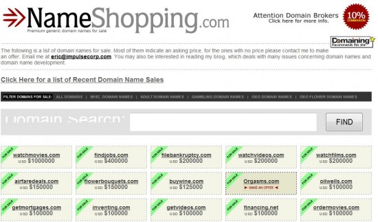 Name Shopping