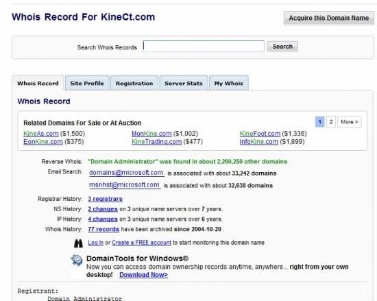 Kinect.com domain name