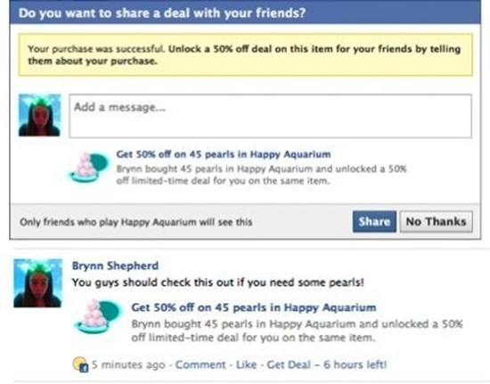 Facebook Buy with Friends