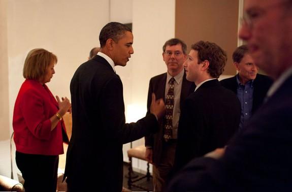 Zuckerberg meets President Obama