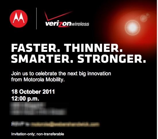 Motorola Launch Event Invite