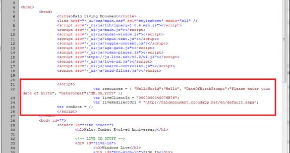 HaloLivingMonument.com source code