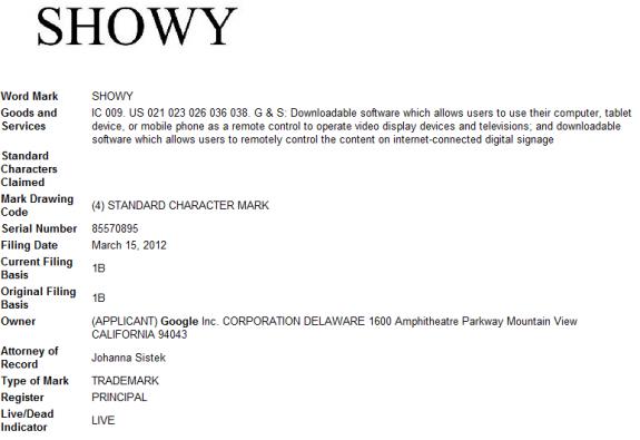 Showy Trademark