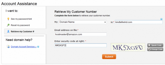 Go Daddy Retrieve my Customer number