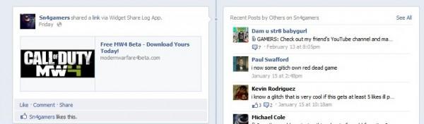Facebook Mw4 Beta code message