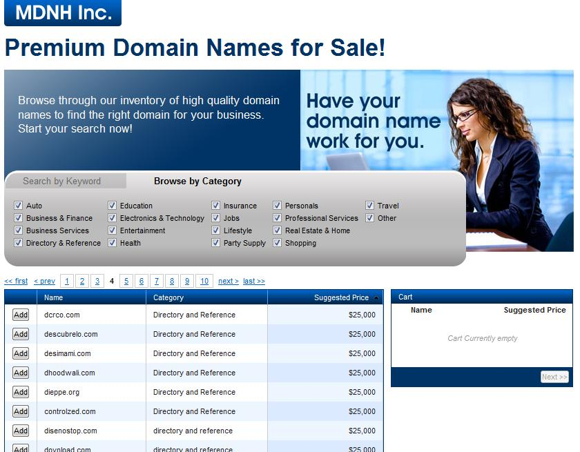 Interested in buying one of Yun Ye's Domains from Marchex? It'll cost you at least $25,000