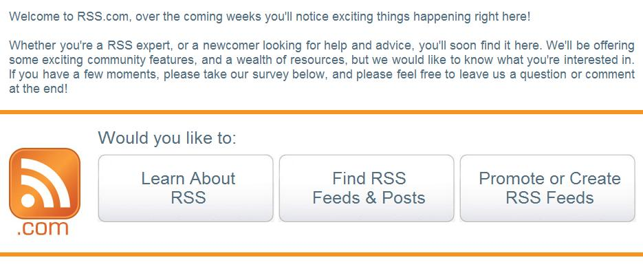 RSS.com, Ron Sheridan's Recent Purchase uses Survey to Help Develop Category-Killer Name