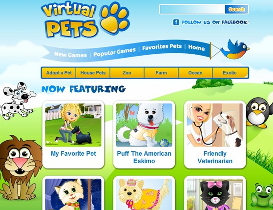 Hallpass Media launches another website from their Portfolio of Domains: VirtualPets.com (in Beta)
