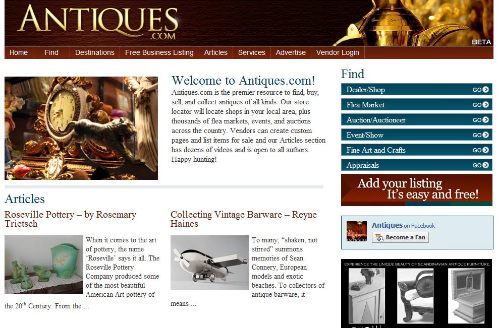 National A-1 Advertising Officially Launches BETA Site for Category-Killer Antiques.com