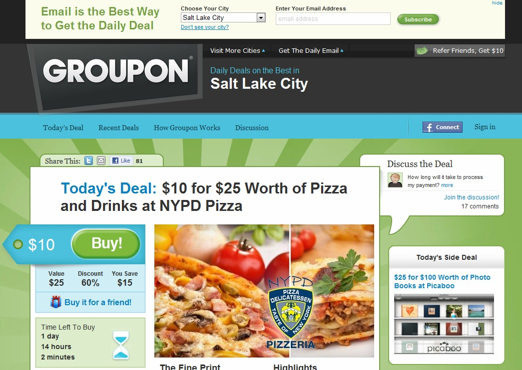 Who owns the best Groupon domains?