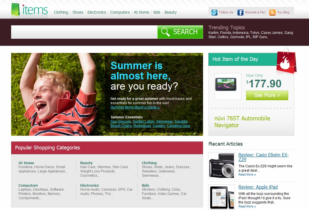 "Items.com the $50,000 domain name sold in 2010, launches ""Optimized Social Shopping"" website"