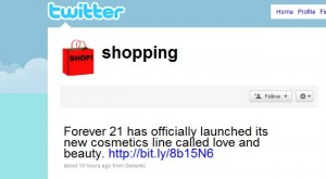 """Shopping Twitter"""
