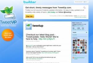 Tweetup on Twitter