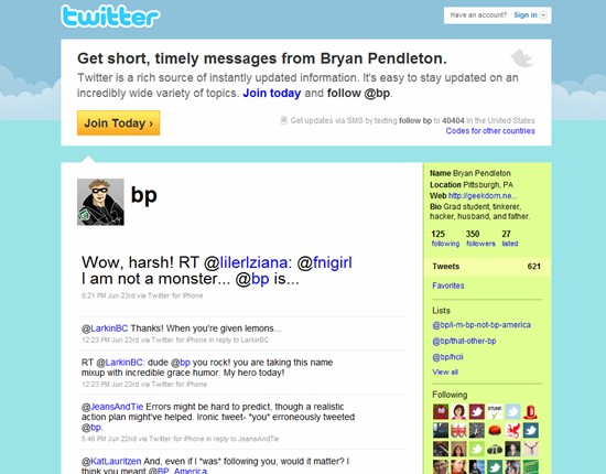 Like Some Domains, Social Media Vanity URLs can be unintentionally confusing like Twitter's @BP