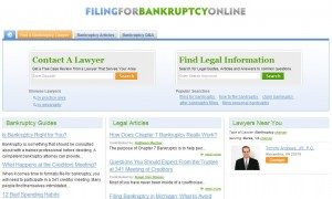 Filing for bankruptcy online