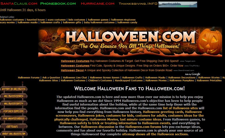 Halloween.com, Phonebook.com, SantaClaus.com is really just one person, no big companies here