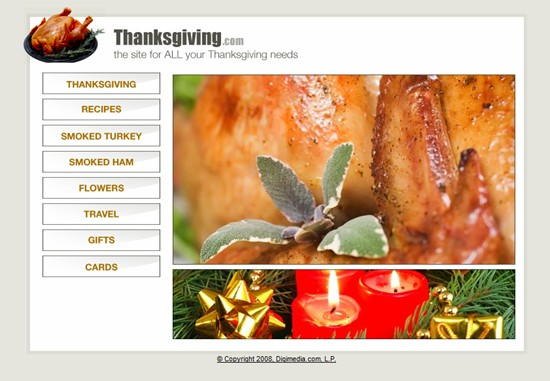 Undeveloped Thanksgiving.com is owned by the Legendary Scott Day, but are there plans in the works?