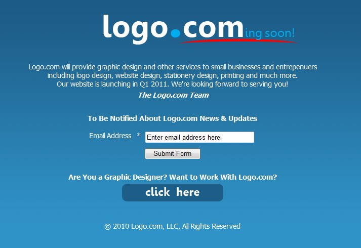 Recent buyer of $500,000 domain Logo.com, raring to launch and hire freelancers