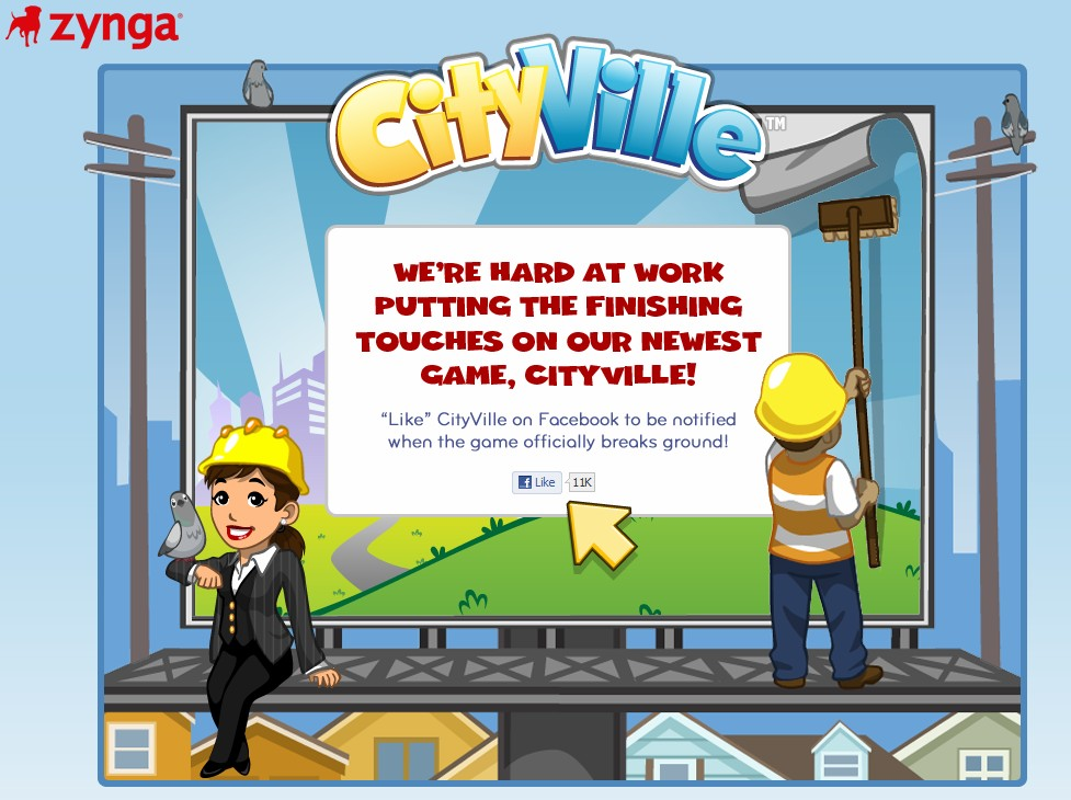 Zynga ready to break ground with its biggest social game yet: Cityville (domain purchased for $38K in June '10)