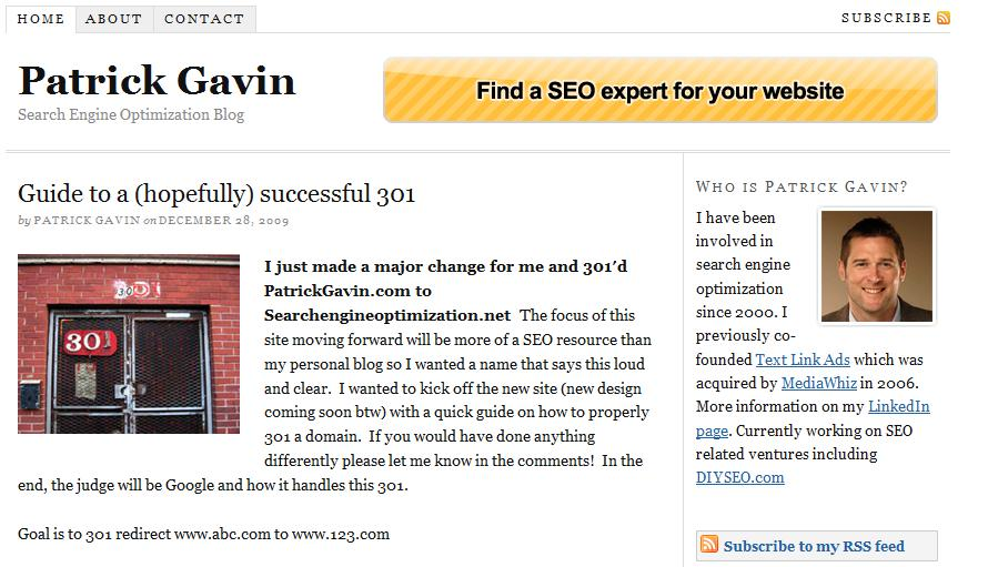 Patrick Gavin Kick-Starts SearchEngineOptimization.net; The $62K BuyDomains Gamble to Beat out .COM