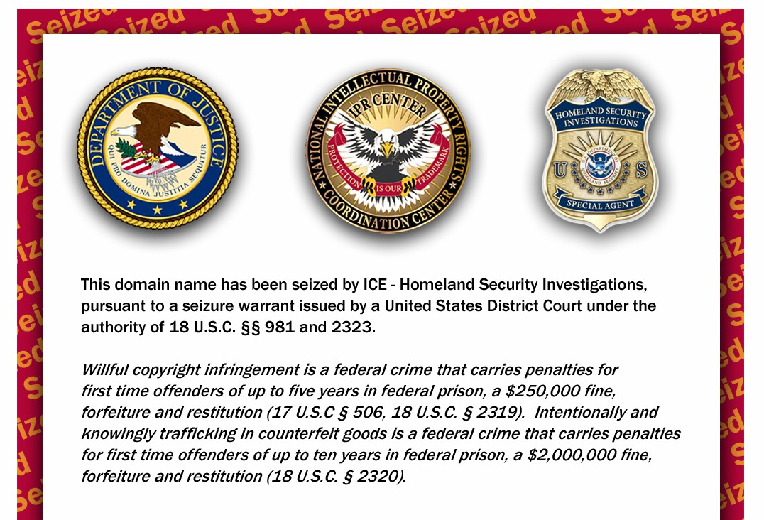 Owners of domain names seized by ICE, using Twitter to communicate with users