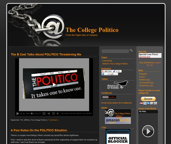 POLITICO sends cease and desist letter to the owner of domain TheCollegePolitico.com