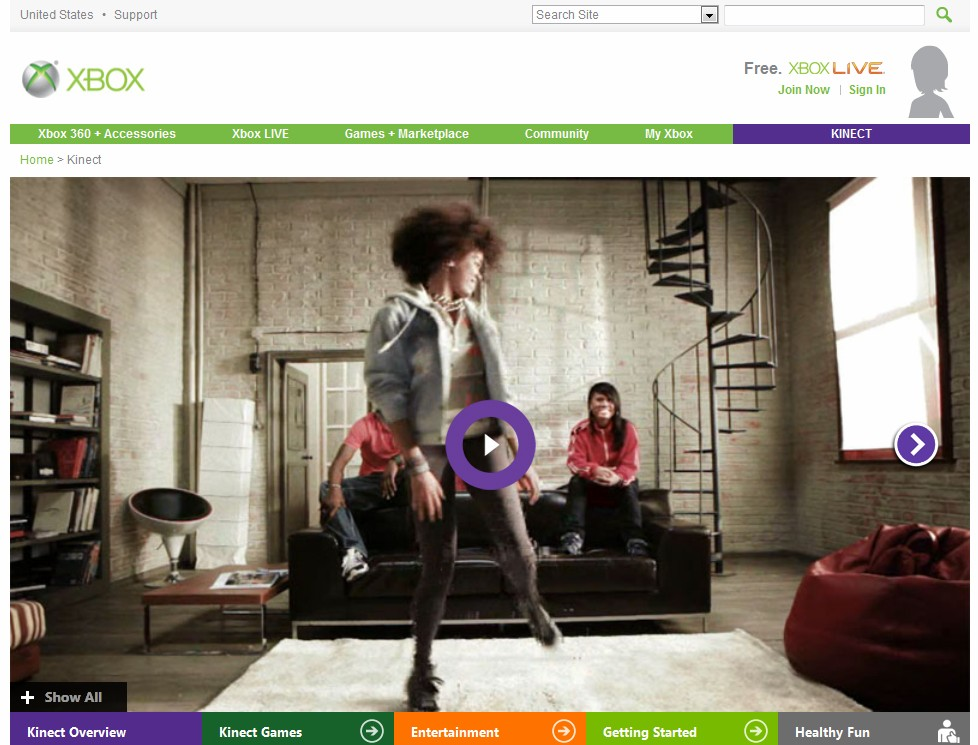 Nearly a month after acquiring domain name, Microsoft starts redirecting Kinect.com to Xbox web page