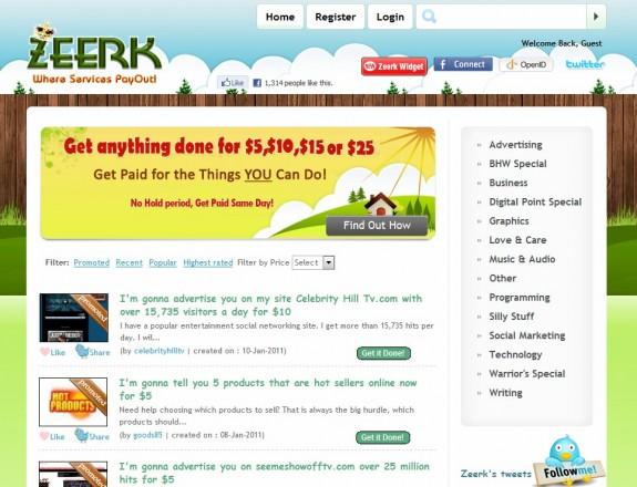 Zeerk Fiverr Clone