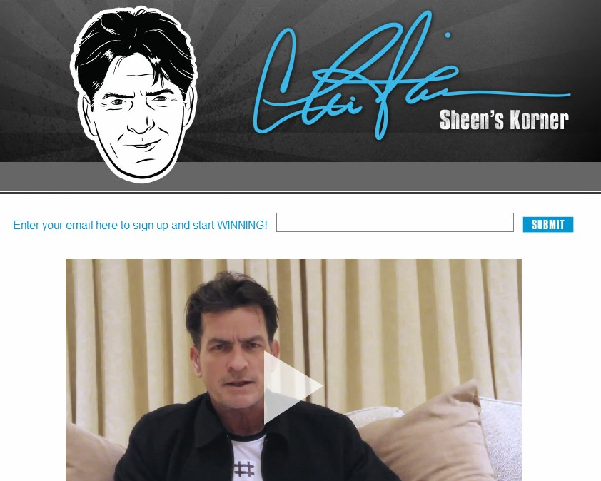 Charlie Sheen gets control of CharlieSheen.com domain name, launches website
