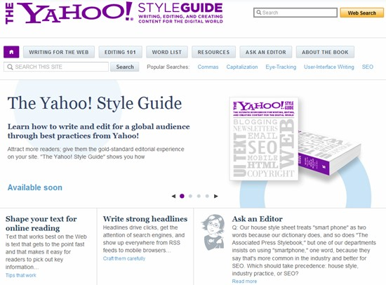 New resource for Domain Developers and Domain Industry Bloggers, The Yahoo! Style Guide