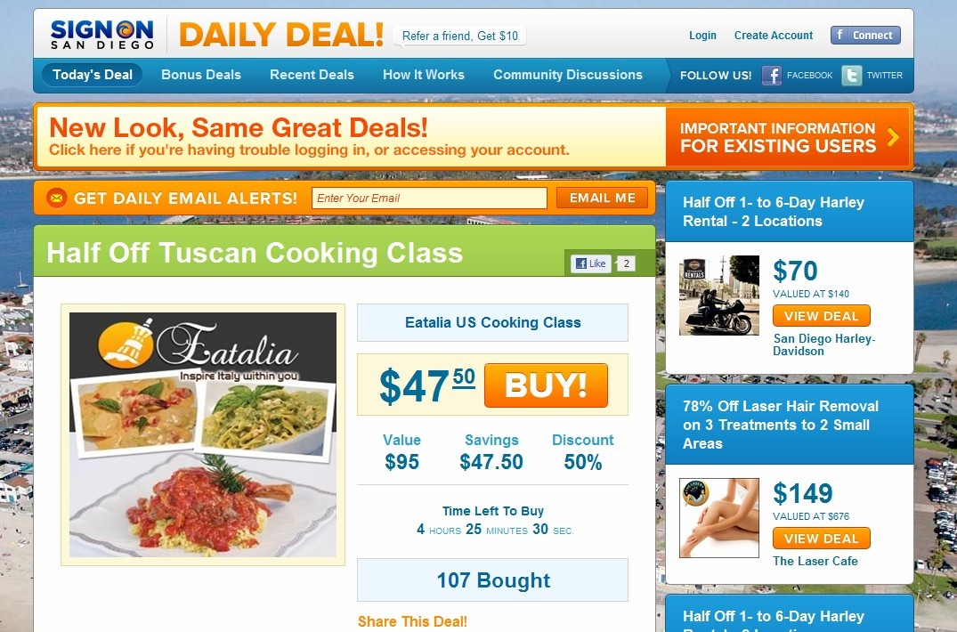 Newly registered domain names good enough for The San Diego Union-Tribune's Daily Deal website