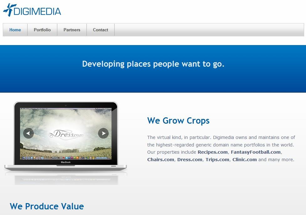 Scott Day's Digimedia updates website, showcases generic domain names