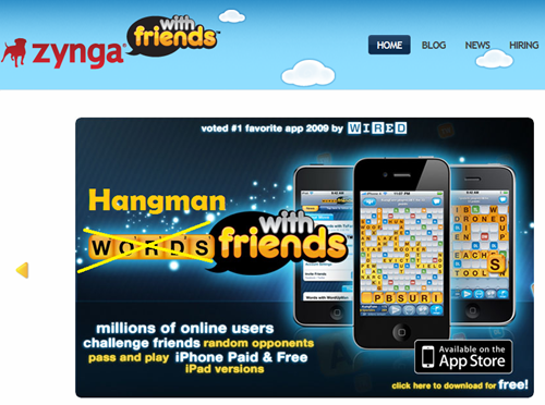 Next top ranking iOS game by Zynga, Hangman with Friends? Company registers hangmanwithfriends.com