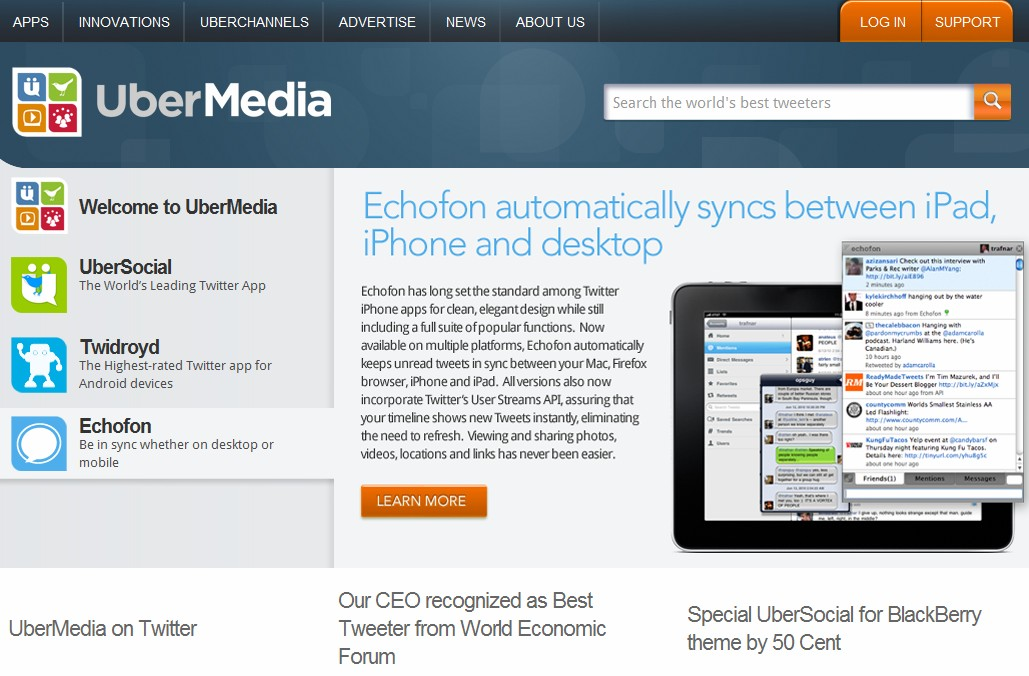 Despite shaky relationship with Twitter, UberMedia buys the domain name Twitteripad.com