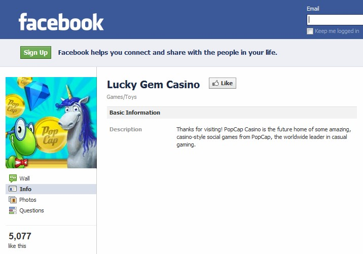 PopCap planning to launch casino-style social games on Lucky Gem Casino