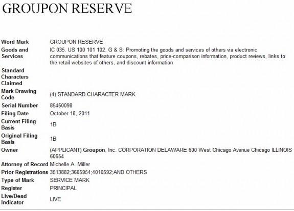 Groupon Reserve