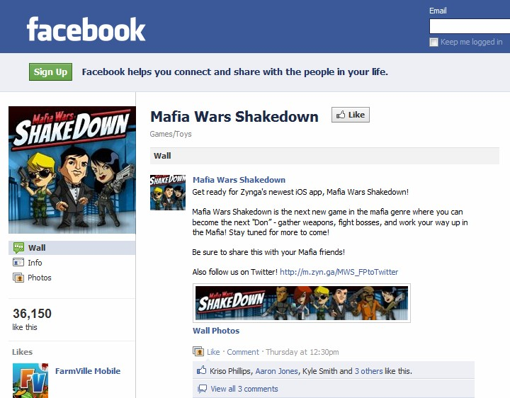 Zynga buys up 'Mafia Wars Shakedown' domain names, drops hints on Android