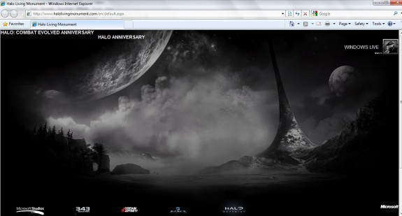 Halo Living Monument website