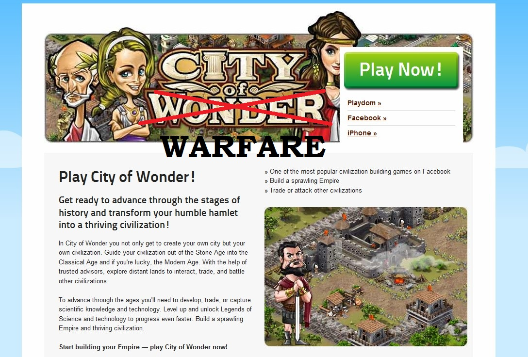 Disney's Playdom developing 'City of Warfare' game? Trademarks filed