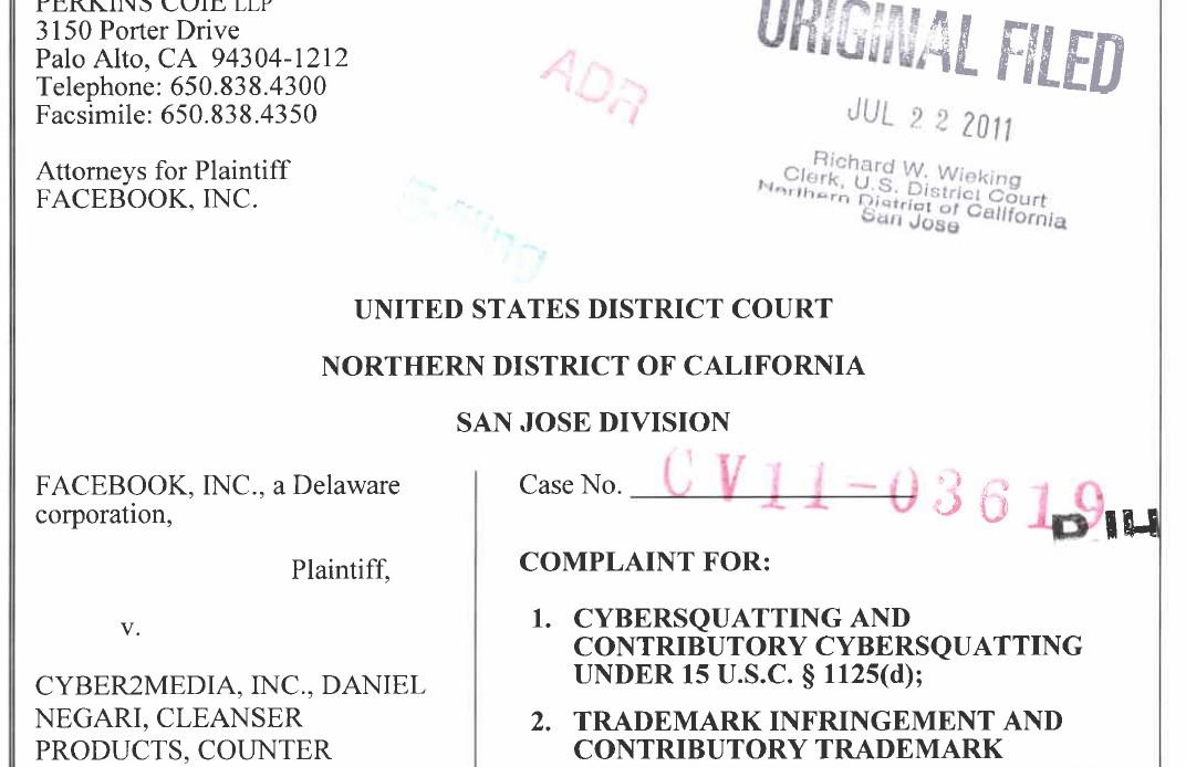 Defendant in Lanham Act lawsuit turns over dozens of domains to Facebook
