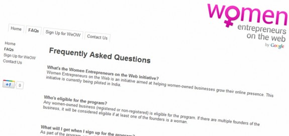 Women Entrepreneurs on the Web initiative
