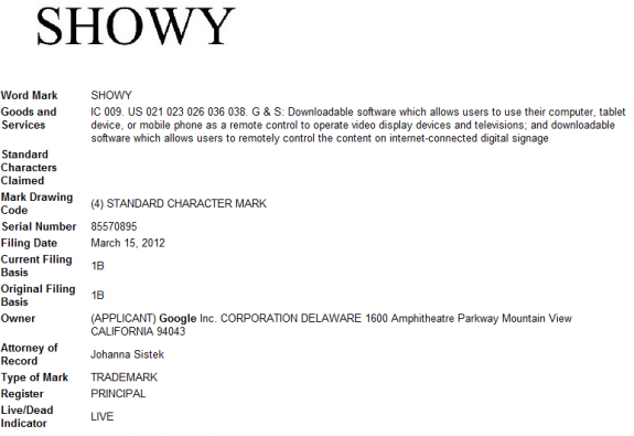 Showy Trademark