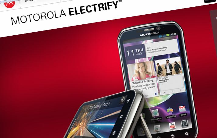 Motorola files trademark for Electrify Icon mobile phones and smart phones
