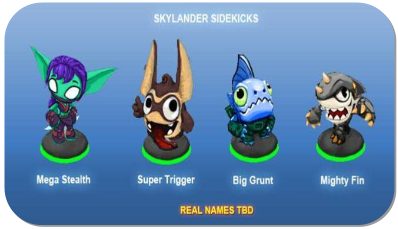 Activision files trademark for Skylanders Sidekick: First look at new characters