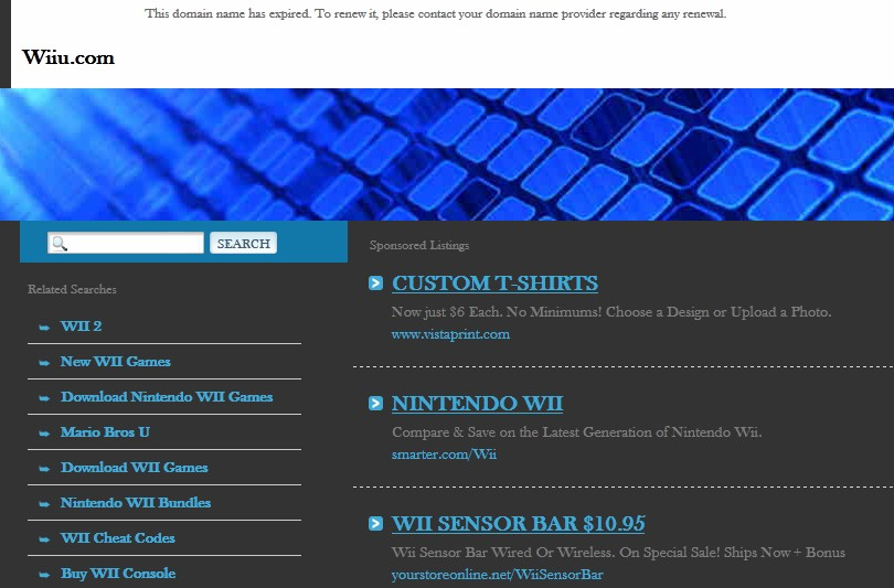 Wiiu Com Game : Wiiu domain expires nintendo still doesn t own it